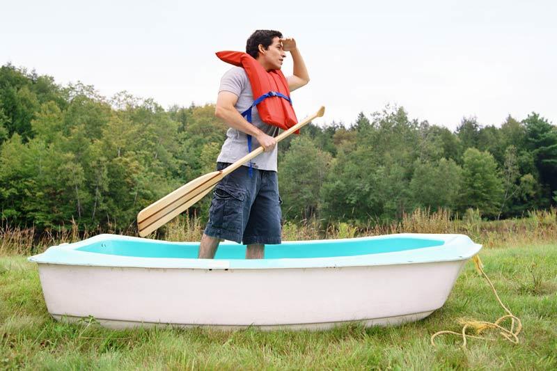 Man Adrift.