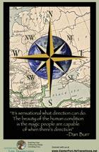 Motivational poster - It's sensational what direction can do... -Dan Burr